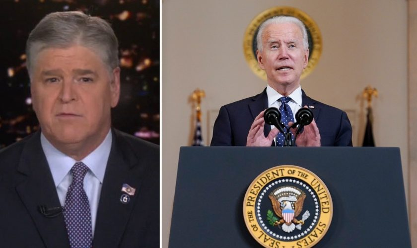 Hannity blasts Biden for describing last year's violent protests as 'in peace and with purpose'