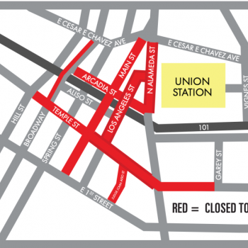 Here are the road closures around L.A. Union Station on Oscar Sunday