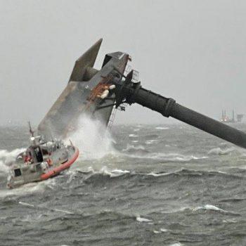 Louisiana ship capsize: Search for survivors from 'lift' vessel