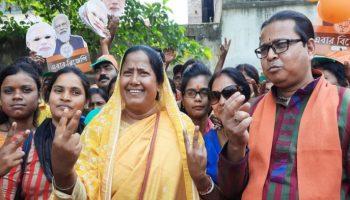 Mafuja Khatun files are nomination for 60-Sagardighi constituency