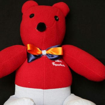 Mexico City fashion designer makes teddy bears out of the clothes of COVID-19 victims