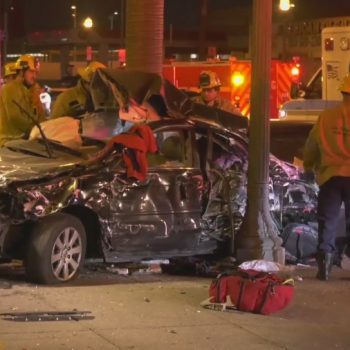 Speed likely a factor in South L.A. crash that killed 3: CHP