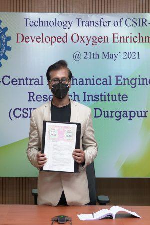 CSIR-CMERI transfers Oxygen Enrichment Unit (OEU) to MSMEs