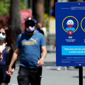 L.A. County to follow state guidance saying Californians must keep wearing masks indoors