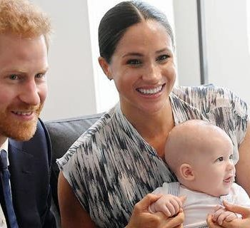 Meghan Markle and Prince Harry with their son Archie when he was four months old.