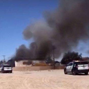 Military contract aircraft crashes in Las Vegas neighborhood near Nellis AFB