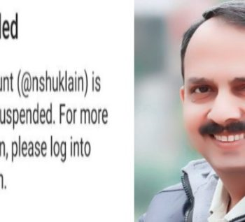 Twitter India suspends Nitin Shukla account bring back