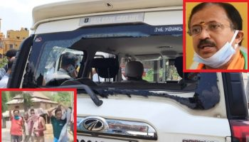 Union Minister V. Muraleedharan car attacked by TMC goons in Bengal