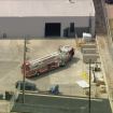 Worker rescued after being trapped between forklift, marble slab at North Hollywood facility: LAFD