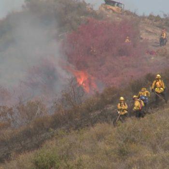 73 Freeway toll road shut down in Laguna Beach due to small brush fire