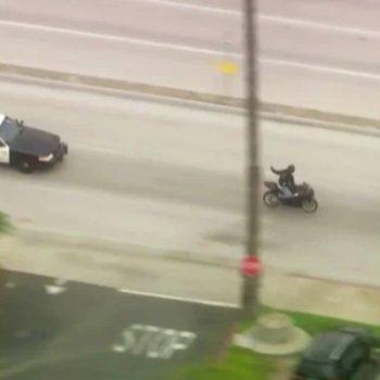 Authorities pursuing speeding motorcycle in San Gabriel Valley area