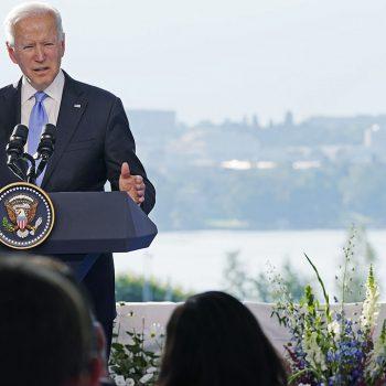 Biden starts to call Putin 'President Trump' at press conference