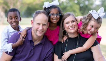 The Baskin family has been fostering children for the last decade.