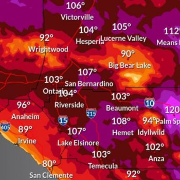 Triple-digit temps forecast amid SoCal heat wave; Palm Springs expected to hit 120