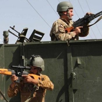 Afghan troops in Herat