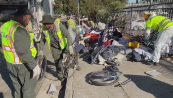 At 'epicenter of the homelessness crisis in San Pedro,' encampment cleanups have continued despite pandemic