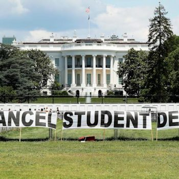 A protest outside the White House on June 15, 2021.
