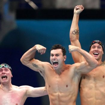 Caeleb Dressel wins U.S. Olympic swimming gold as member of men's freestyle relay team