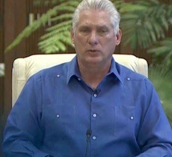 Cuban President Miguel Díaz-Canel addressed Cuba on Wednesday night.