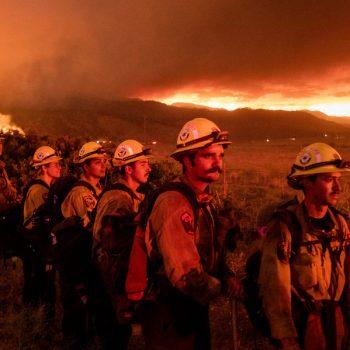 Fire crews battle exploding California wildfire under blazing temperatures amid heat wave