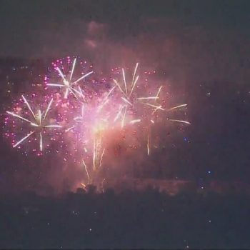 Fireworks lit up the L.A.-area sky after officials warn of fire danger