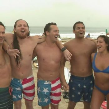 Hermosa Beach celebrates Fourth of July with annual run, paddle and chug ironman