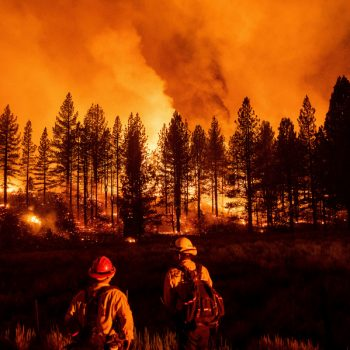 National forest in Sierra Nevada closed as wildfires explode in size, heat returns