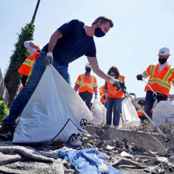 Newsom kicks off California's $1.1 billion plan to clean trash and graffiti from public spaces statewide