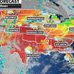 The national forecast for Friday, July 30. (Fox News)