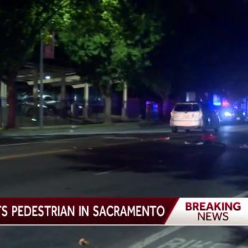 Pedestrian in serious condition after being struck by vehicle, Sacramento police say