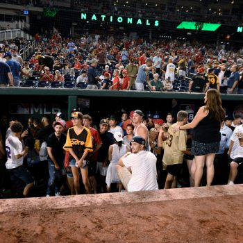 San Diego Padres game suspended after shooting outside Washington, D.C. stadium