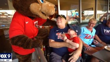 A Vietnam veteran's daughter surprised him with VIP tickets to a Minnesota Twins game a day before his next round of chemotherapy, according to local reports.