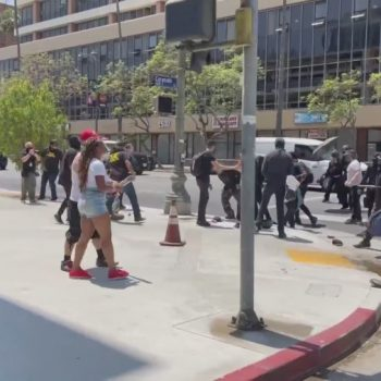 Violence breaks out over trans rights at Koreatown spa