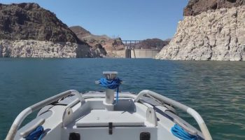 Water level in Lake Mead, key reservoir along Colorado River, reaching record lows