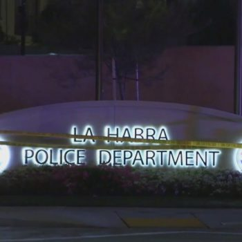 Officer shot, one person dead outside La Habra police station